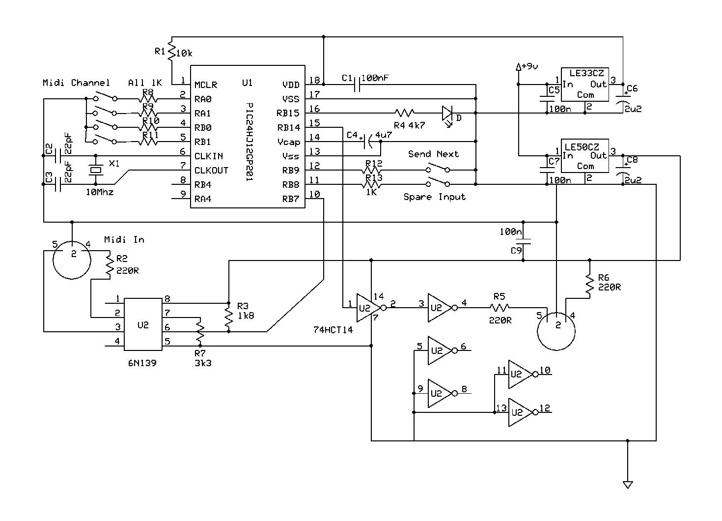 Donnie Diode MIDI Filter